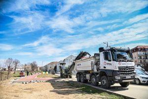Lucrările de modernizare a infrastructurii Sibiului continuă