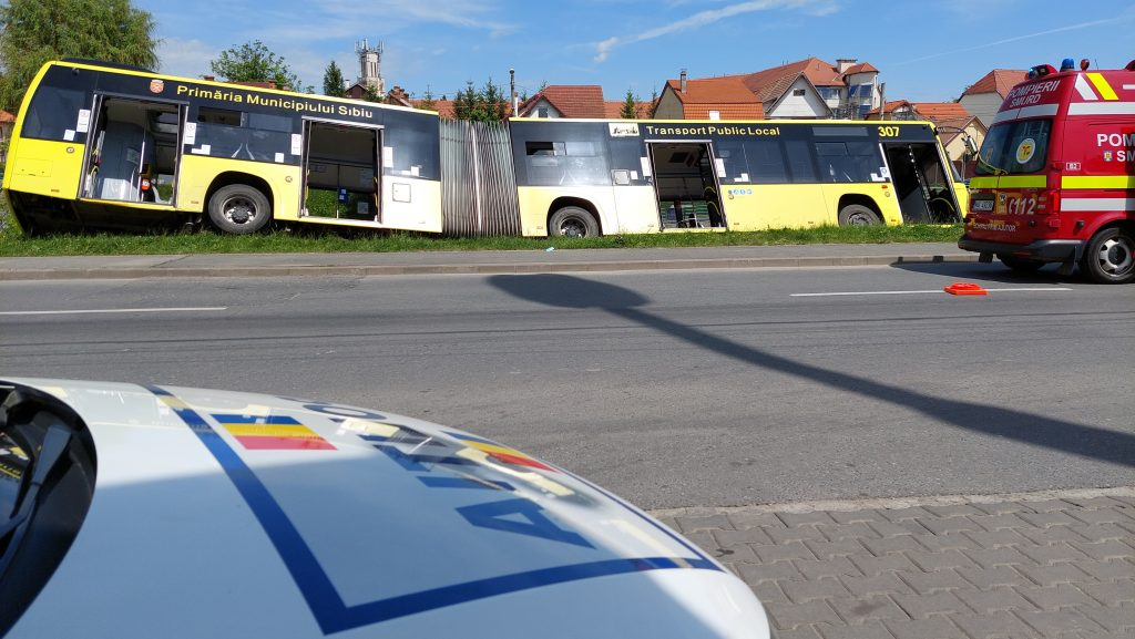 Autobuzul Tursib la un pas de a ajunge în Cibin